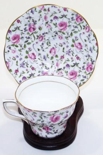 vintage queens pattern bone china