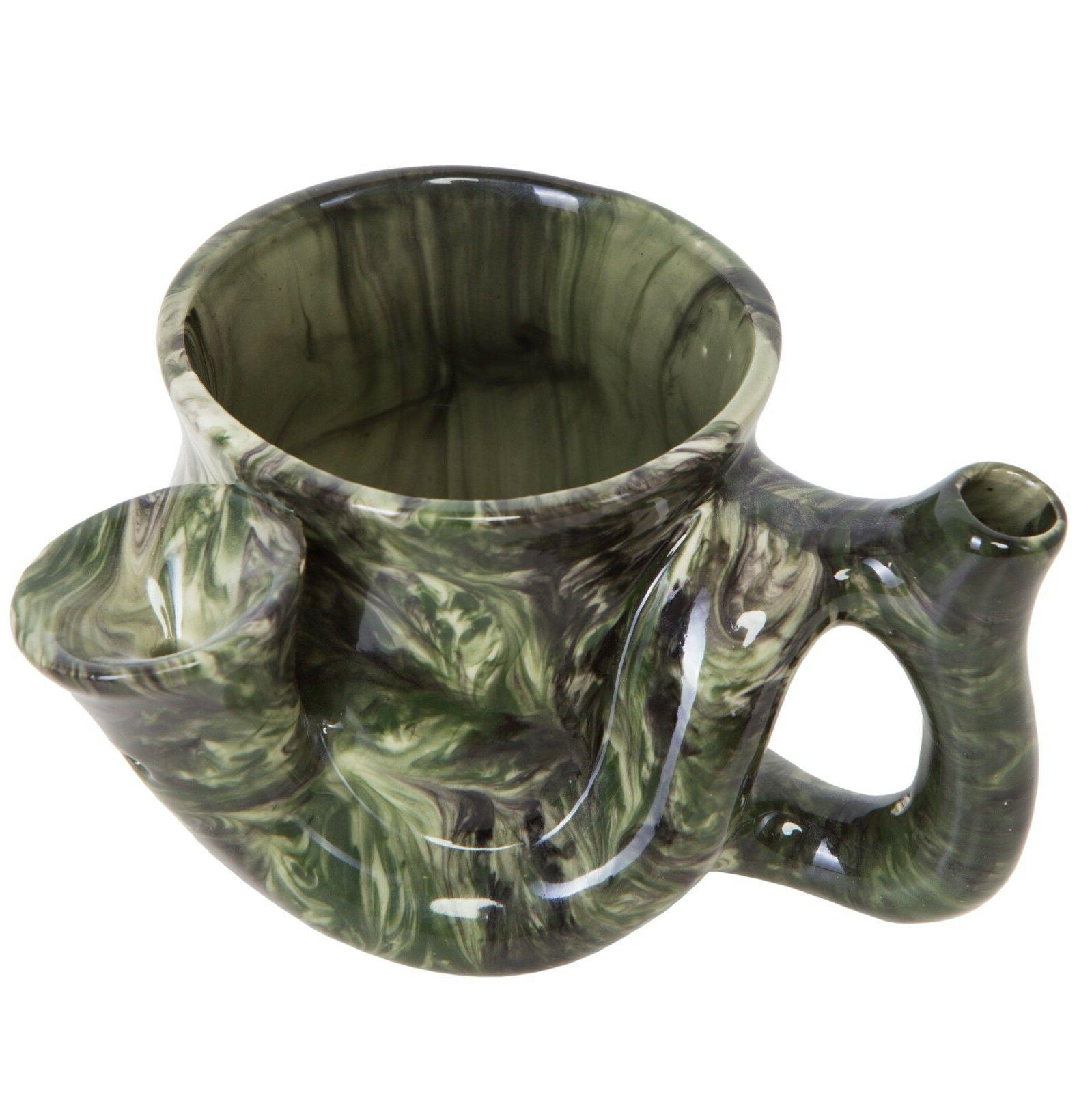 Wake and Bake coffee mug Smoking Pipe mug all in one. Funny