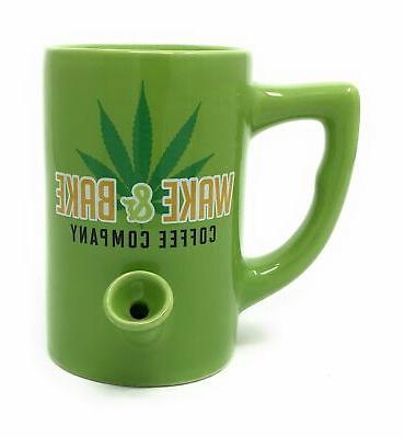 wake bake one ceramic mug