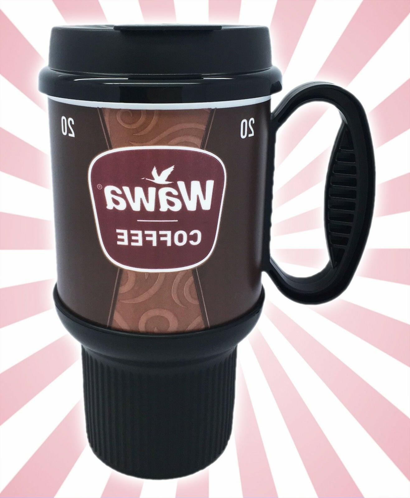 Wawa Gas Station Classic Coffee Mug Cup Brown Insulated Doub