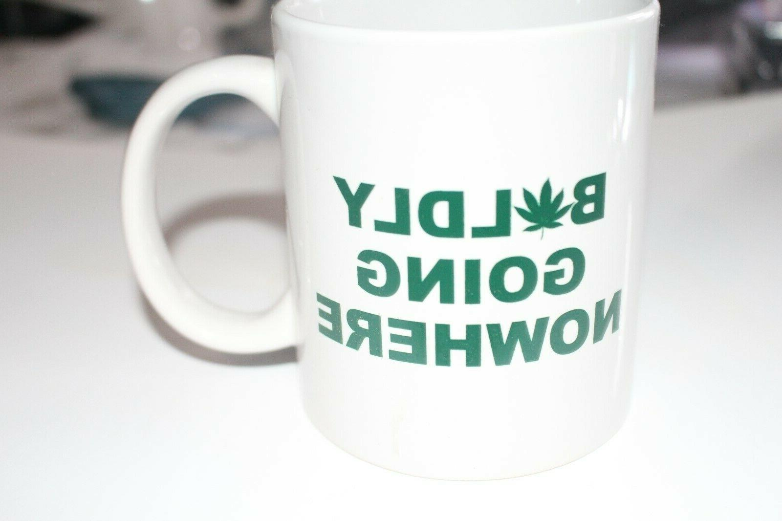 Weed Boldly Going Nowhere Coffee Cup Mug