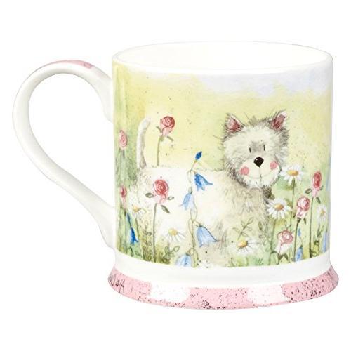 westie bone china mug