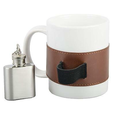 White Ceramic Mini Steel Strap On Coffee