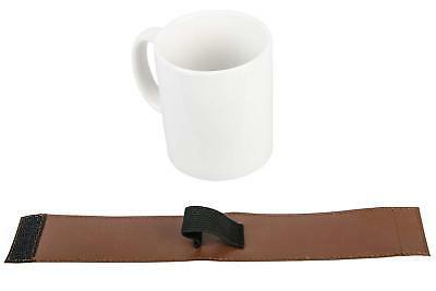 White Novelty Ceramic Steel Flask Strap On Coffee Tea