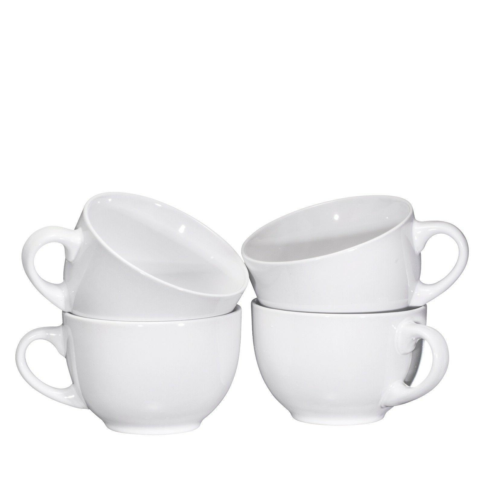Bruntmor Wide Ceramic Coffee Mug Ounce, Set of 4