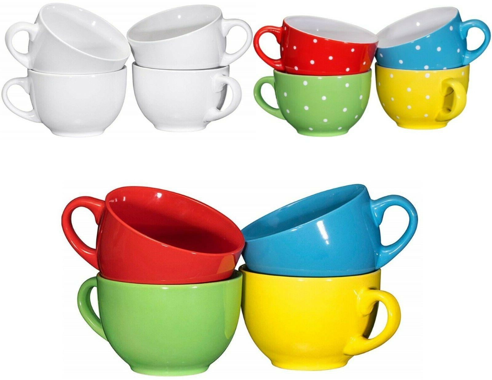 wide ceramic mug set of 4 24