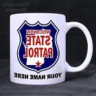 Wisconsin State Patrol Emblem Personalized 11oz Coffee Mugs