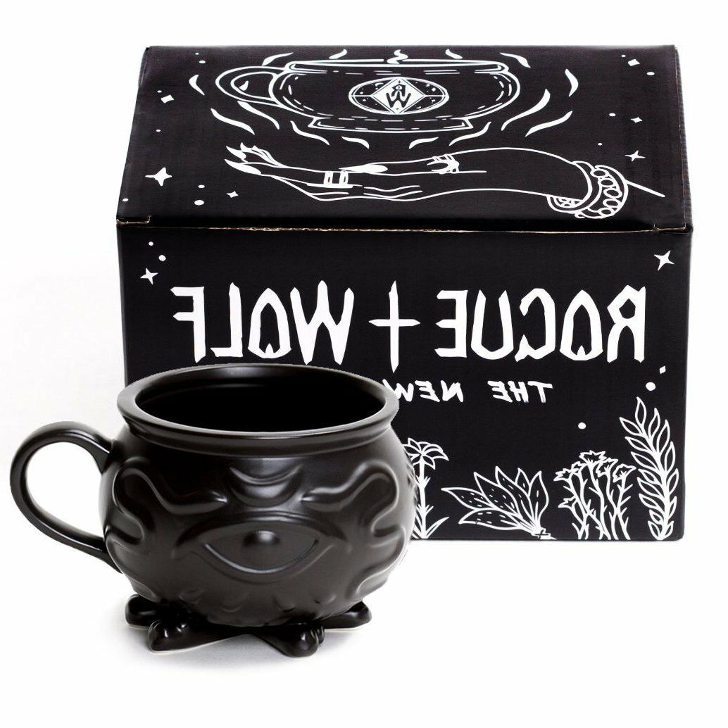 witch cauldron coffee mug in gift box