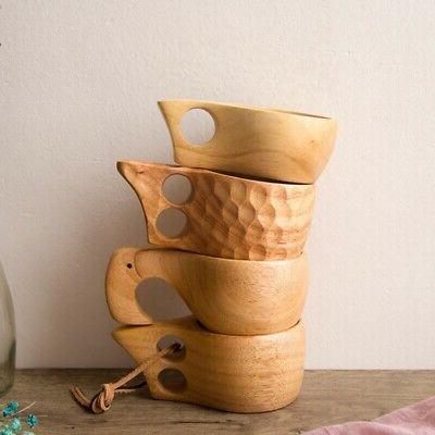Wooden Cup Lapland Finland Kuksa Wood Fruit Tea Coffee Milk