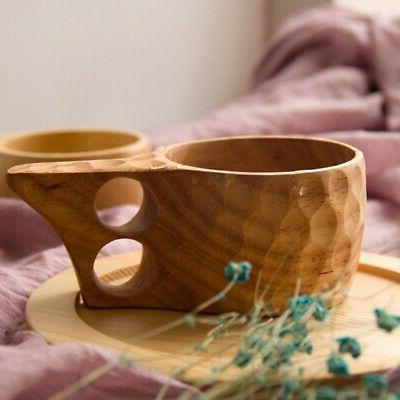 Wooden Cup Lapland Finland Kuksa Wood Portable Fruit Coffee