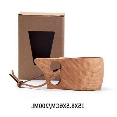 Wooden Handle Cup Lapland Finland Kuksa Wood Fruit Tea Coffe