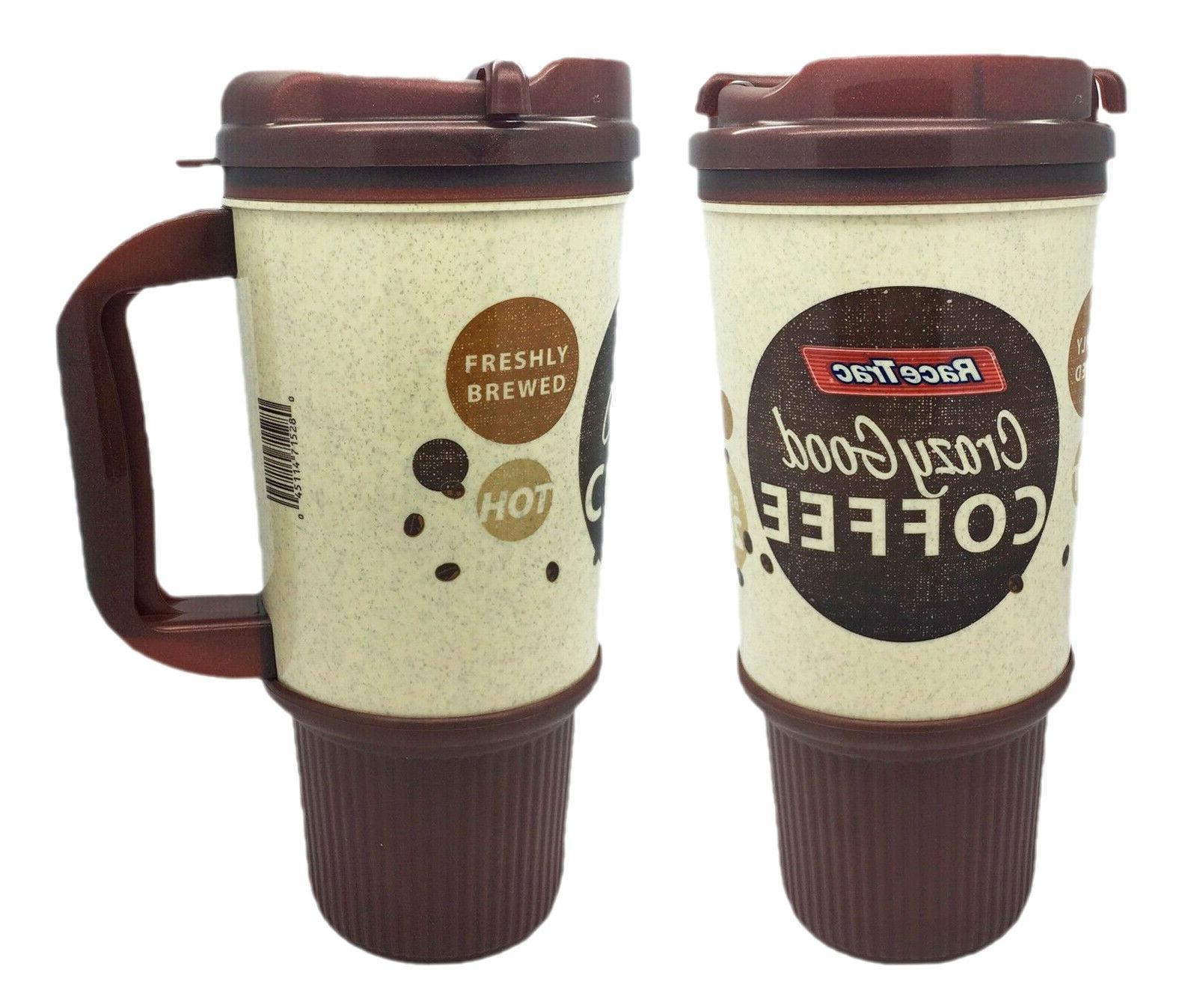 x1 RaceTrac Gas Station Coffee Mug Cup Brown