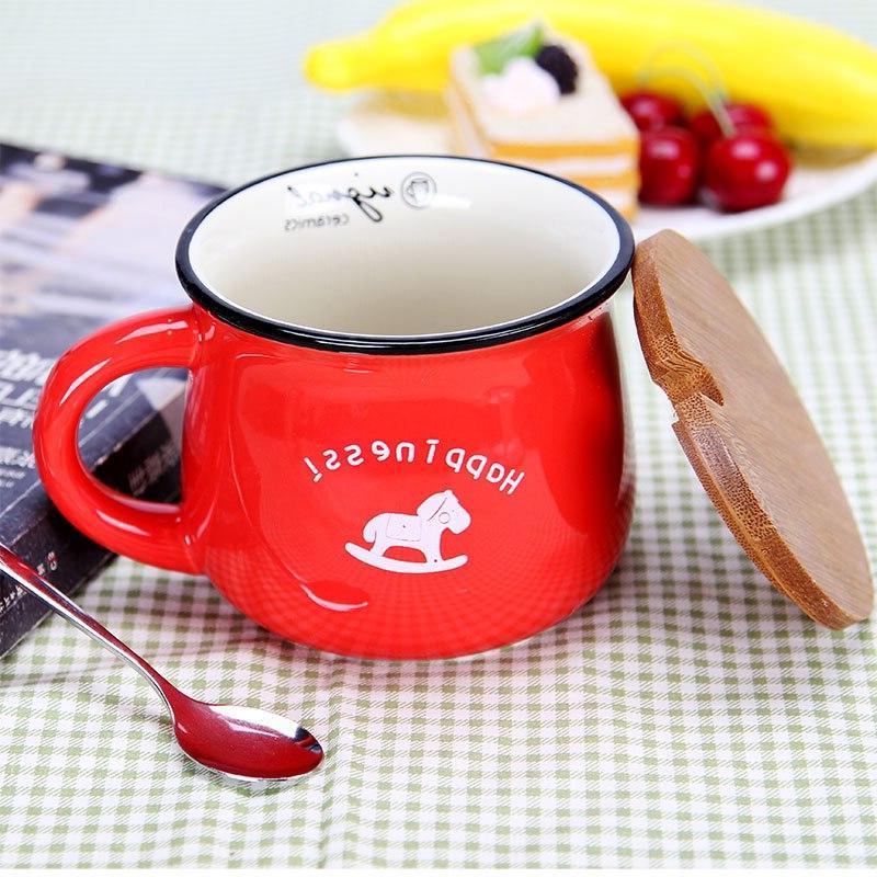 Zakka Ceramic Cups and <font><b>Mugs</b></font> <font><b>Mug</b></font> Enamel Breakfast Milk Tea and Creative Kitchen Gifts