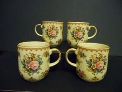 "Royal Albert ""LADY CARLYLE"" set of 4 bone china coffee/tea m"