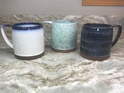 Large Barrel Coffee Mug Choose Dip-Dye Or Blue Wash. Lucky B
