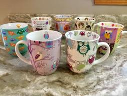 Large Coffee Mug Creative Tops, Owls Collection. Cute Design