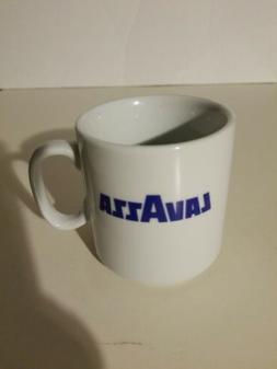 LavAzza Coffee Mug Cup Ceramic Cappuccino Latte White Blue 8