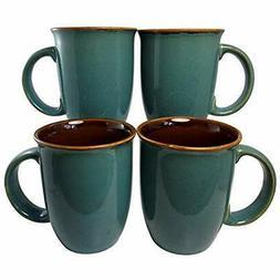 Leopard Cups Mugs & Saucers Glaze Coffee Set 4  14oz Ceramic
