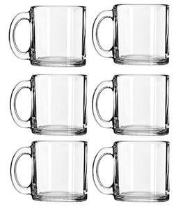 Libbey Crystal Coffee Mug Warm Beverage Mugs Set of 13 oz 6