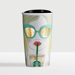 Starbucks Los Angeles LA Girl Sunglasses Ceramic Coffee Trav