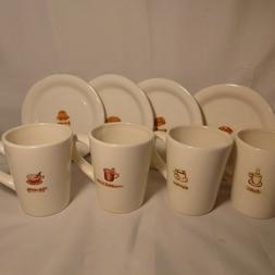 "Lot of 8 WILLIAM SONOMA coffee mugs & 6 1/2"" dessert plates"