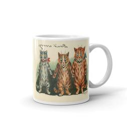 Louis Wain Don't Worry Funny Cats 11 Oz Coffee Mug, Unique C