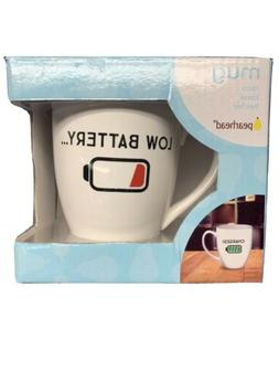 Low Battery / Charged Big Coffee Mug Cup New Gift