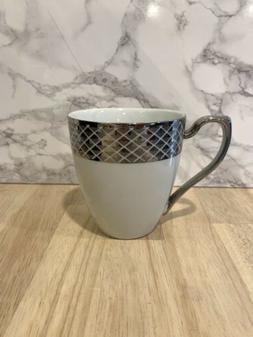 Ciroa Luxe Lattis Metallic Coffee Mugs Porcelain Geometric S
