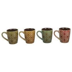 4 Piece Madrid Fashion Mug Set