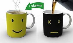 Magic Morning Smiley Face Heat Sensitive Porcelain Tea Coffe