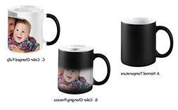 Magic Photo Ceramic Coffee Mugs, Personalized Custom Heat Se