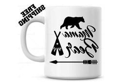 Mama Bear coffee mug w/ teepee  - Mothers day Gift -  Birthd