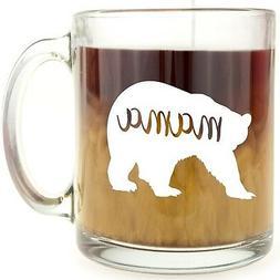 Mama Bear - Glass Coffee Mug - Makes a Great Gift for Mom!