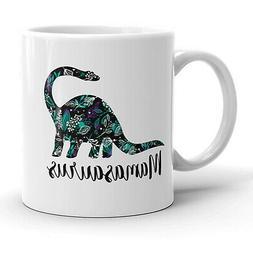 Mamasaurus Floral Mug Funny Dinosaur Mothers Day Coffee Cup-