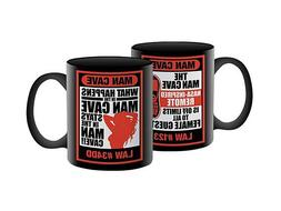 Man Cave Coffee Mug ~ Man Cave Laws ~ Great Gift Idea!