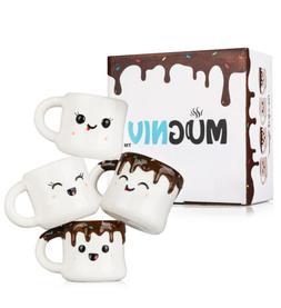 MUGNIV Marshmallow Novelty Mug Set of 4 16 Oz Cups for Coffe
