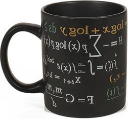 Math Mug - 12 oz. Coffee Mug Featuring Famous Mathematical F