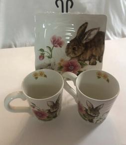 Maxera Ceramic Mug - Set And Decorative Plate With Stand Mul