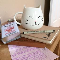 The MEOW Cute Coffee Mugs - Great Gifts for Cat Lovers, Girl