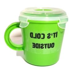 Microwave Soup Mug   Travel Soup Cup w/ Vented Lid   BPA FRE