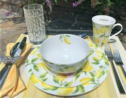 Mikasa Lemons Bone China Dinnerware Set 🍋