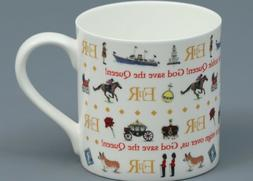 MILLY GREEN GOD SAVE THE QUEEN Fine Bone China Cylinder Mug