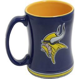 Minnesota Vikings Coffee Mug Relief Sculpted Team Color Logo