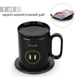 Modern Mug Warmer & 2 in 1 Wireless Charger Coffee Keep Warm