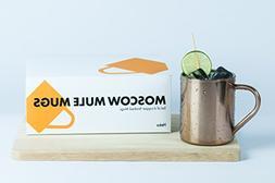 MOSCOW MULE MUGS Set - 16 oz. | Copper finished and hygienic