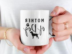 Mother Of Dog Coffee Mug Him Her Mom Dad Men Women Home Fun