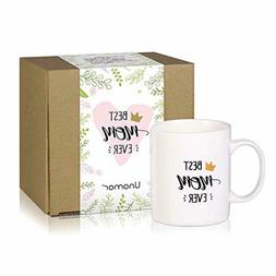 Mother's Day Coffee Mugs Gift 12.5 oz - Best Mom Ever Cerami