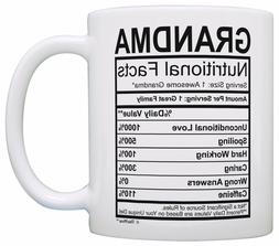 Mothers Day Gifts for Grandma Nutritional Facts Label Funny