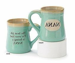 Mothers Day Gifts Mug Mom Nana Best Job Ever Porcelain Mug C