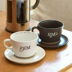 Mr. and Mrs. Coffee Mug Set: His and Hers, Gift Boxed 4pc; 2